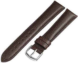 Hadley-Roma MS2045RZ 180 18mm Leather Calfskin Brown Watch Strap