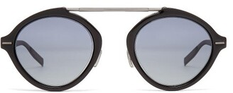 Christian Dior Sunglasses - System Round Frame Sunglasses - Mens - Black