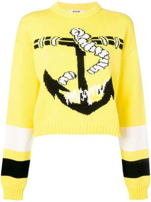 MSGM anchor print sweater