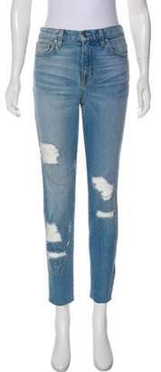 IRO High-Rise Distressed Jeans
