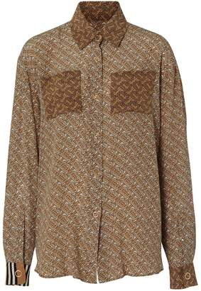 Burberry two-tone monogram print shirt