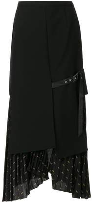 Christian Dada Signature Combined Pleated skirt