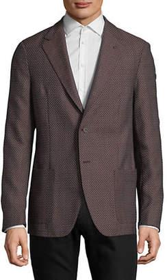 Strellson Mandoc Mirco-Print Wool-Blend Sport Coat
