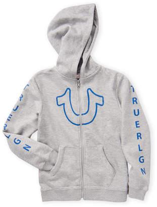 True Religion Boys 4-7) Heather Grey Original Buddha Hoodie