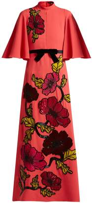 Andrew Gn Floral-embroidered crepe gown