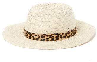 54fa6d0c Vince Camuto Genuine Pony Hair Banded Panama Hat