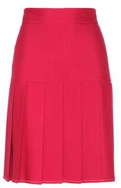 Gucci Pleated silk and wool skirt