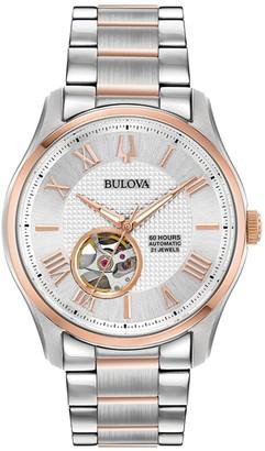 Bulova Men's Rosetone Stainless Steel Watch