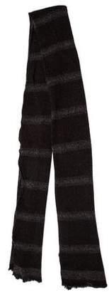 John Varvatos Striped Wool Scarf