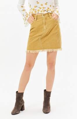 MinkPink Empire Corduroy Mini Skirt