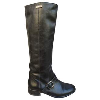 Ann Tuil Black Leather Boots