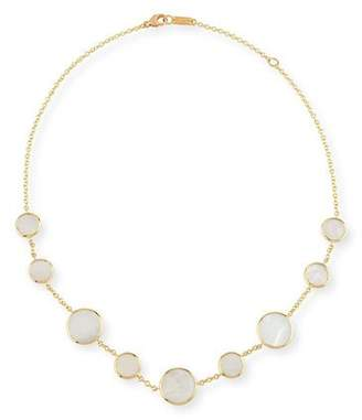 Ippolita 18K Polished Rock Candy Circle Station Necklace in Mother-of-Pearl