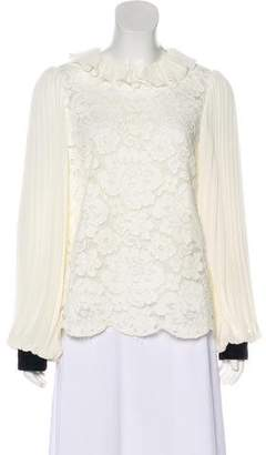 Philosophy di Lorenzo Serafini Accordion Pleated Lace Blouse w/ Tags