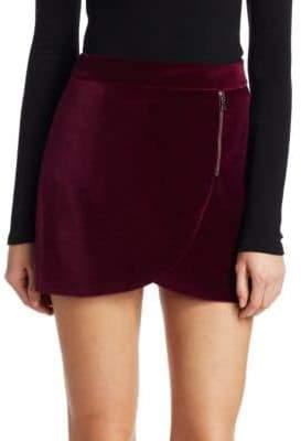 Alice + Olivia Lennon Velvet Mini Skirt