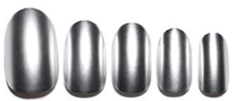 Static Nails Gunmetal Edit Chrome Pop-On Reusable Manicure Set