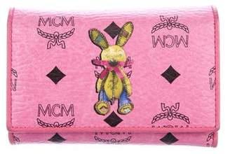 MCM Visetos Rabbit Print Compact Wallet