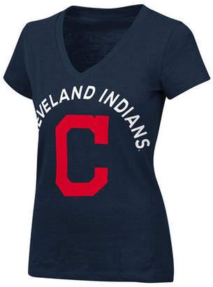 G-iii Sports Women's Cleveland Indians Classic Logo V-Neck T-Shirt