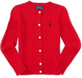 Ralph Lauren Button-Up Cardigan, Toddler & Little Girls (2T-6X) $45 thestylecure.com
