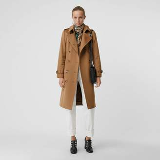 Burberry Cashmere Trench Coat , Size: 06, Beige