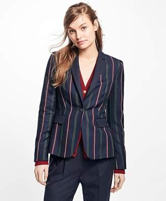 Striped Wool Blazer $228 thestylecure.com
