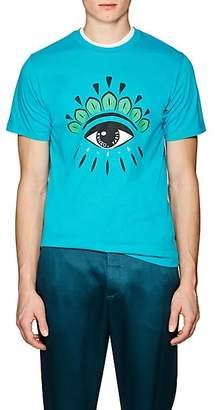 Kenzo Men's Eye-Print Cotton Jersey T-Shirt - Blue
