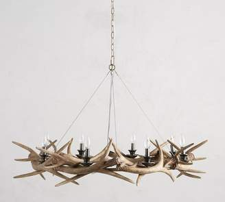 Pottery Barn Faux Antler Ring Chandelier