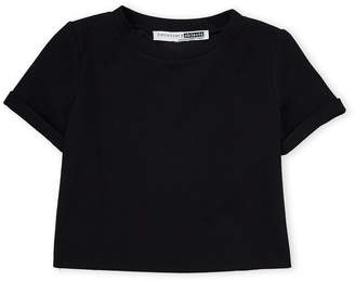 Necessary Objects Girls 7-16) Cuffed Cropped Top