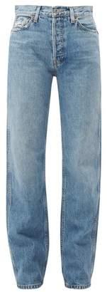 RE/DONE Loose High Rise Denim Jeans - Womens - Denim