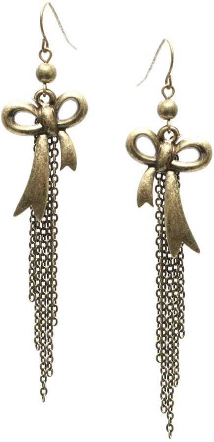 ASOS Bow And Chain Drop Earring (+)