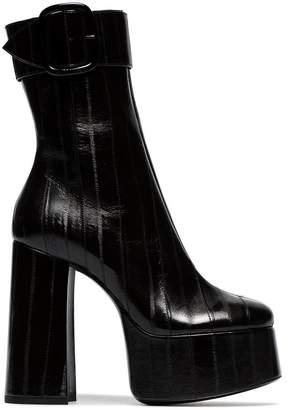 Saint Laurent Billy 85 platform leather ankle boots