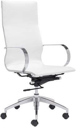 ZUO Modern High Back Adjustable Glider Desk Chair