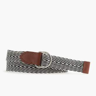 J.Crew Cotton stripe belt
