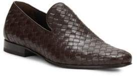 Roberto Cavalli Woven Leather Loafers