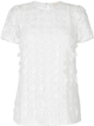 MICHAEL Michael Kors novelty dot textured shortsleeved top