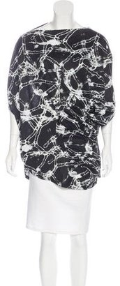Junya Watanabe Abstract Print Asymmetrical Top $145 thestylecure.com