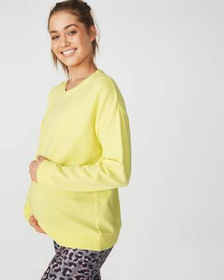 Maternity Active Crew Long Sleeve Top