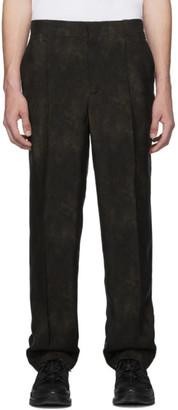 Burberry Brown Animal Print Fluid Trousers
