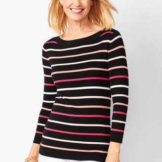 Talbots Classic Bateau-Neck Sweater - Stripe