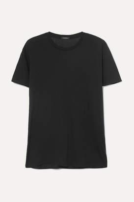 R 13 Boy Cotton And Cashmere-blend T-shirt - Black