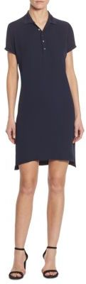Polo Ralph Lauren Short-Sleeve Silk Polo Dress $245 thestylecure.com