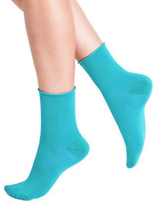BLEU FORET Rolled Crew Sock