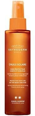 Institut Esthederm Protective Sun Care Oil Body & Hair Moderate Sun, 150ml
