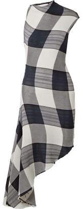 Marques Almeida Marques' Almeida - Asymmetric Gingham Cotton Dress - Black