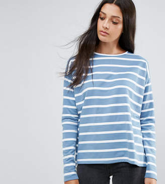 Asos Tall TALL Stripe T-Shirt in Baby Loop Back