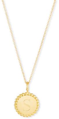 Sarah Chloe Madi Small Engraved Initial Pendant Necklace