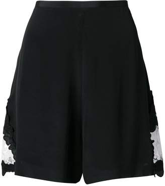 See by Chloe black wide leg shorts