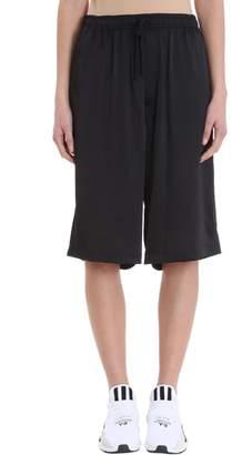 Y-3 Satin Blue Cotton Shorts