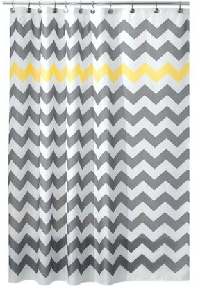 InterDesign Chevron Fabric Shower Curtain, Various Sizes & Colors