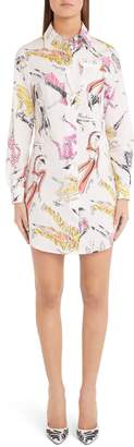 Moschino Sketch Print Shirtdress