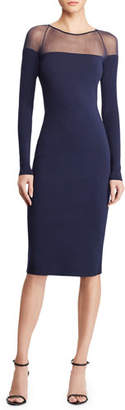 Ralph Lauren Long-Sleeve Illusion Body-Con Dress